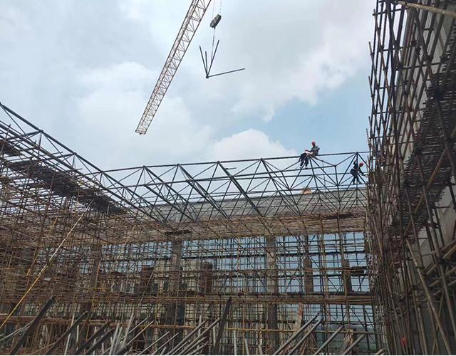 杭州度假村网架加工厂安装