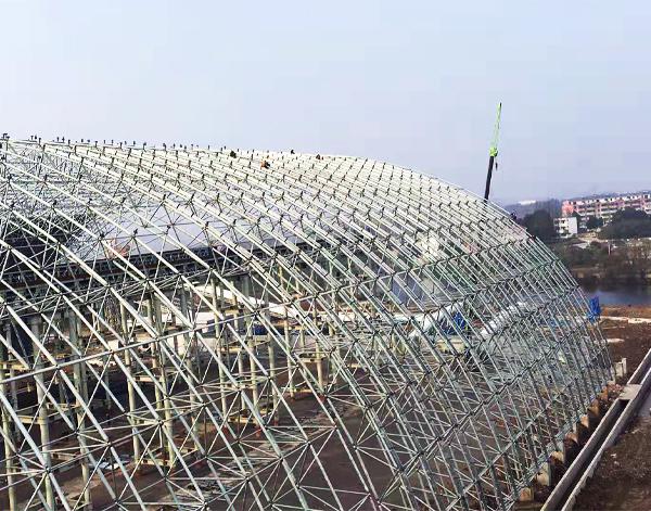 池州海螺水泥厂料棚网架厂家加工