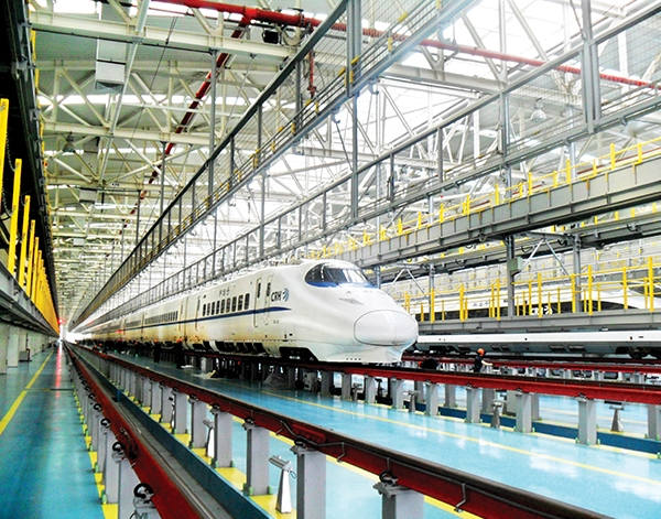 公司承建的上海虹桥动车所检修库钢结构(钢结构)