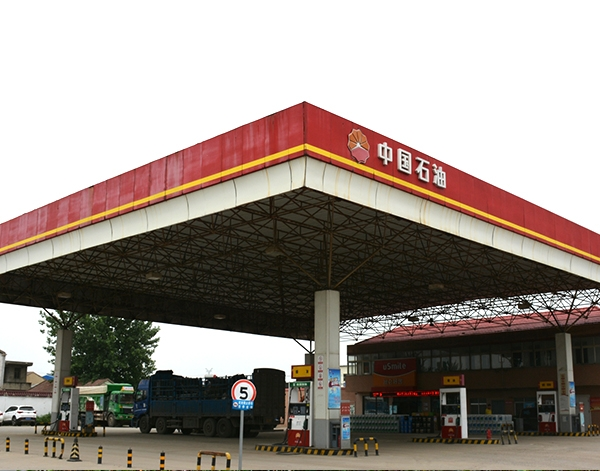 中石油加油站网架加工厂家安装