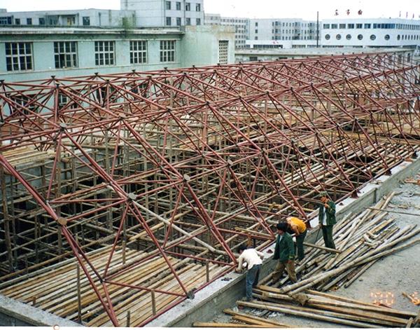 阜新家居城网架结构厂家安装