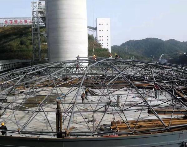 海螺集团湖北十堰公司钢板仓料库网架项目