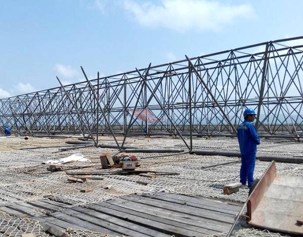 印尼煤棚网架厂家安装