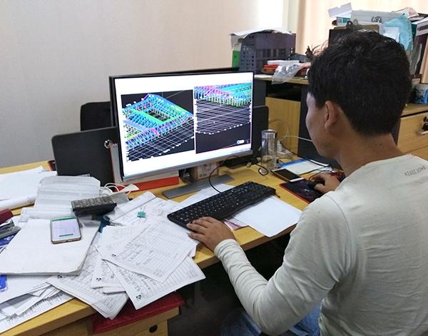 网架厂家设计人员精心设计